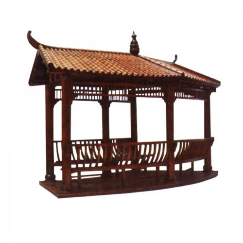 实木碳化防腐木凉亭 LT扇形凉亭