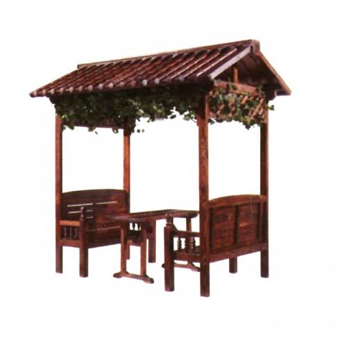 庭院花园实木碳化凉亭岱顶休闲亭BLS-10休闲亭户外