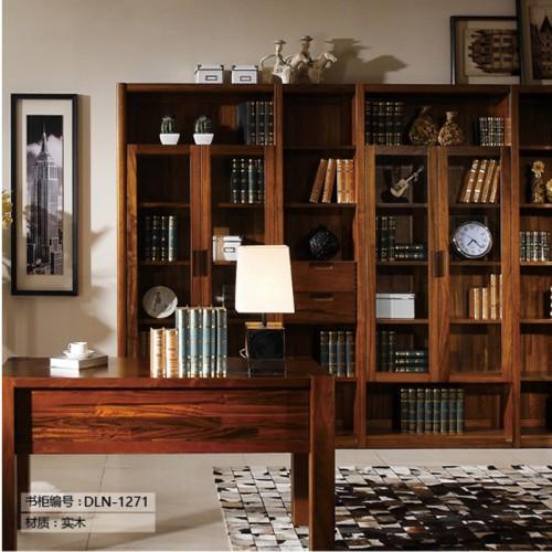 实木书柜定制家具DLN-1271