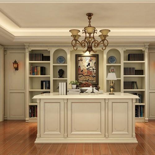 欧式白色书柜定制家具DLN-1257