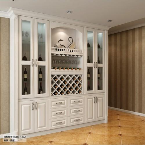 欧式白色酒柜定制家具DLN-1232