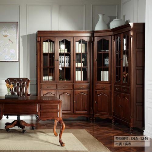 书柜实木定制家具LN-1246
