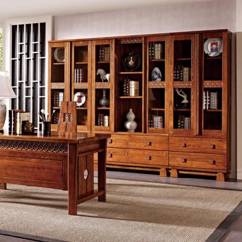 实木定制家具书柜书桌LN-1244