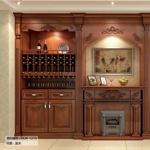 定制家具酒柜展示柜实木LN-1215