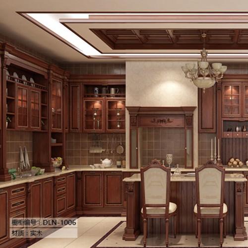 餐厅实木橱柜定制家具DLN-1006