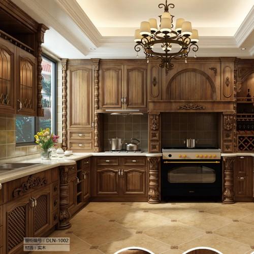 厨房餐厅实木橱柜定制家具DLN-1002