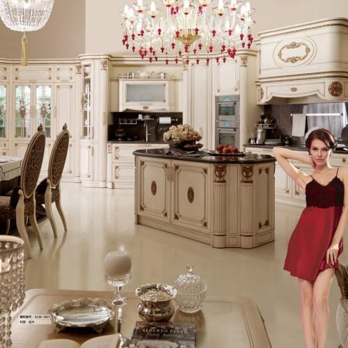 定制家具厨房实木橱柜储物柜DLN-1001