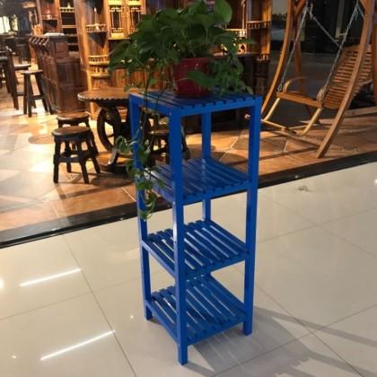 花架多层方碳化木小架子简易户外室外防腐木松木实木