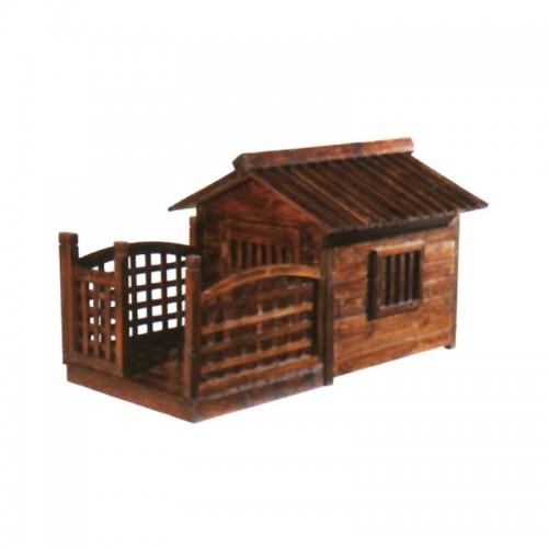 户外碳化木简约狗房子室内宠物屋01