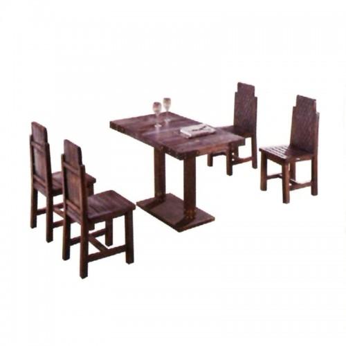 简约休闲碳烧木桌椅组合BLS-8