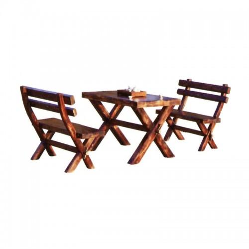 碳烧木户外休闲桌椅庭院BLS-1加厚X桌