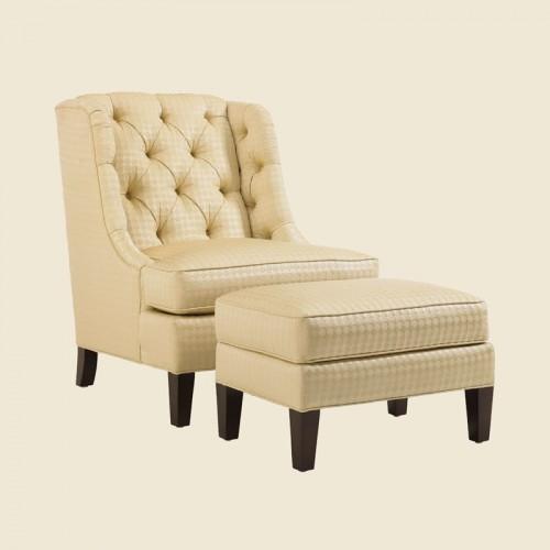 美式现代真皮单人沙发椅带脚蹬42