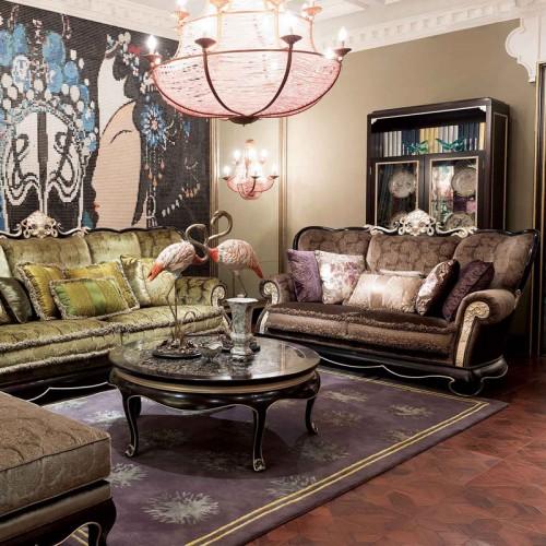 新中式客厅沙发配套定制家具07