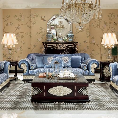 新古典中式客厅布艺沙发配套定制家具10