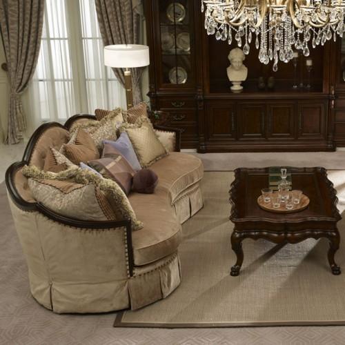 美式奢华布艺沙发别墅实木沙发40