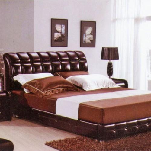 宾馆皮床现代简约双人床      宾馆-8