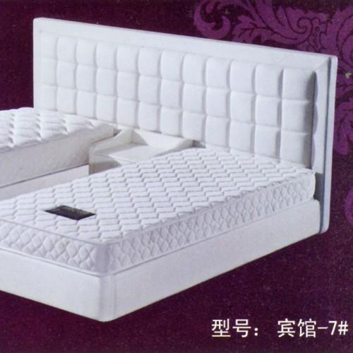 酒店床快捷宾馆2人位标间单人床皮艺软包床      宾馆-7