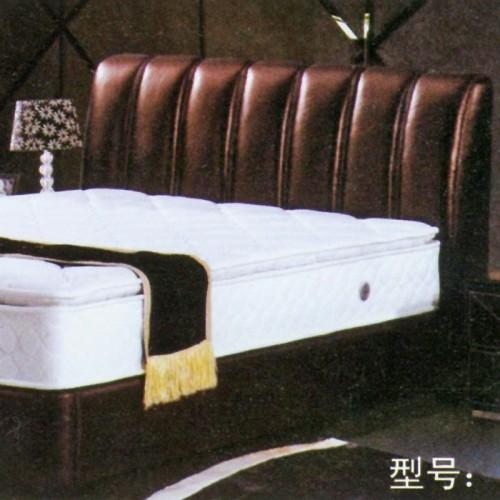 星级酒店皮艺双人床软包床      宾馆-5