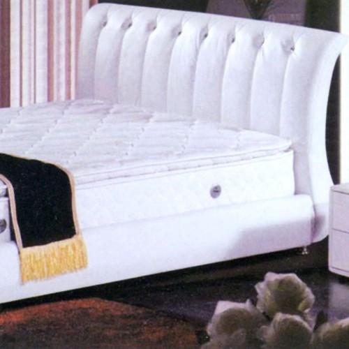 星级酒店白色皮艺双人床软包床      宾馆-4