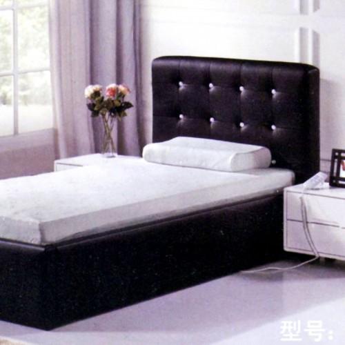 简约现代酒店皮艺单人床软包床      宾馆-2