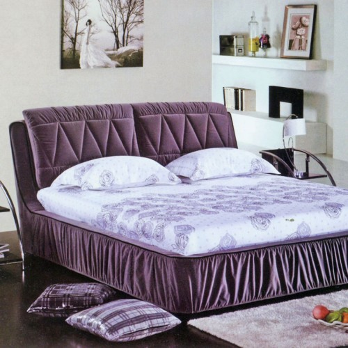 卧室休闲布艺床双人软包布床     B-553