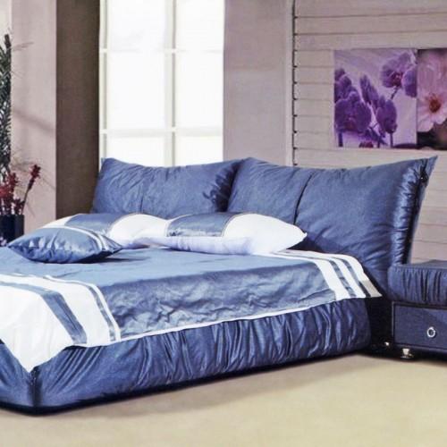 简约现代小户型双人床布艺软包床     3028
