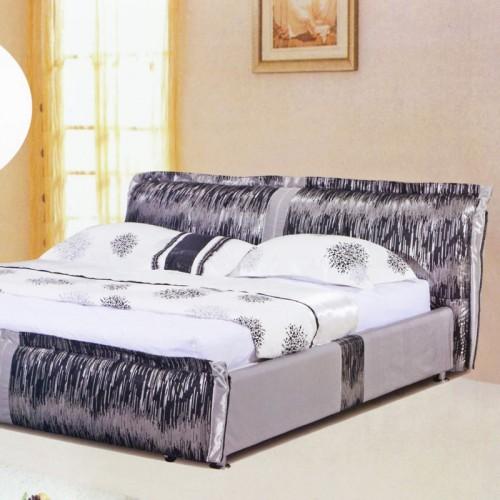 简约现代创意卧室双人床布艺软包床     3027
