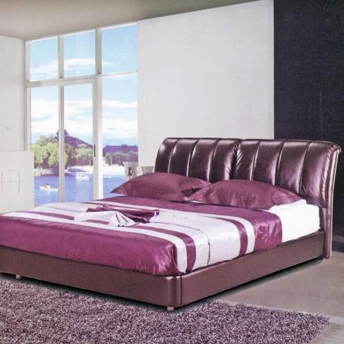 简约现代双人床软床真皮卧室双人床    802