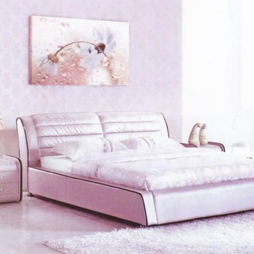 真皮双人床卧室时尚舒适软体床  737