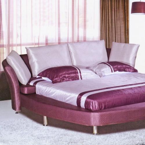 简约时尚真皮床现代卧室软包双人床  666