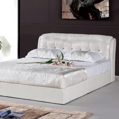 简约现代双人床真皮卧室软包靠背床   908