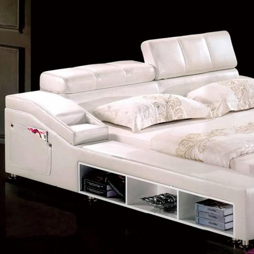 多功能真皮床榻榻米双人床软包床   1066P