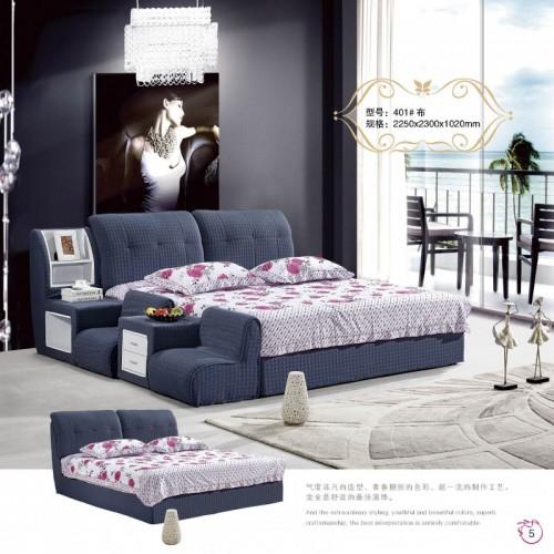 布艺双人床多功能储物床小型沙发坐     401