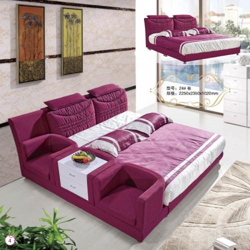 布艺双人床多功能储物床小型沙发坐     24