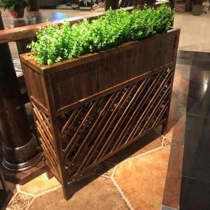 花箱户外碳化木花架防腐木花架阳台装饰品隔断