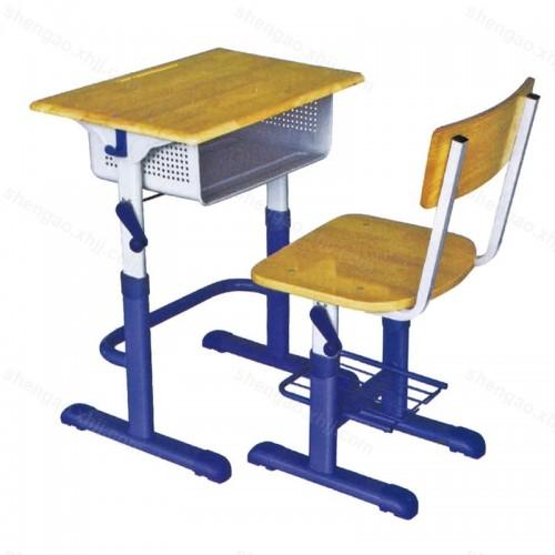 简约现代单人学生课桌椅可升降课桌椅03