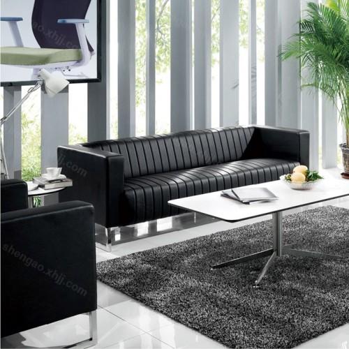 简约现代办公沙发不锈钢架休闲商务沙发组合01
