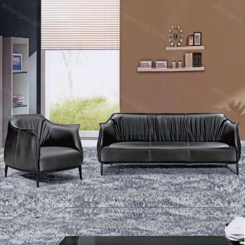 时尚简约创意办公沙发真皮沙发组合03
