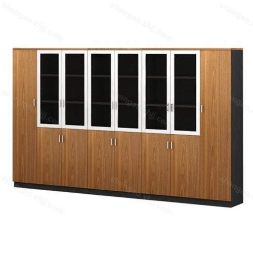 简约板式办公柜储物资料柜多门组合文件柜03