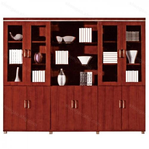 简约实木油漆档案文件柜资料书柜02