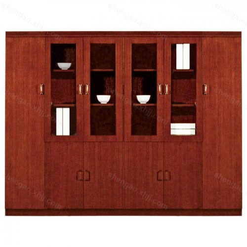 实木文件柜多门组合资料柜档案柜油漆展示柜03