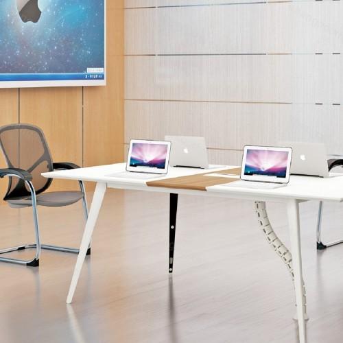 简约现代时尚长方形培训洽谈桌会议桌01