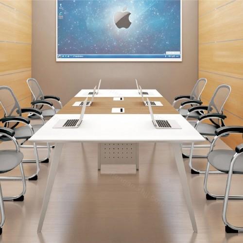 钢木时尚长方形培训洽谈桌会议桌02