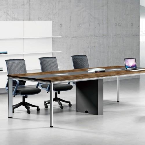 钢木办公长条桌会议桌洽谈桌03