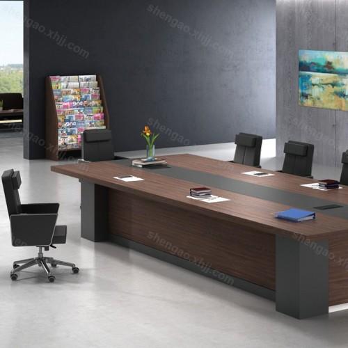 简约板式大型会议桌培训桌01