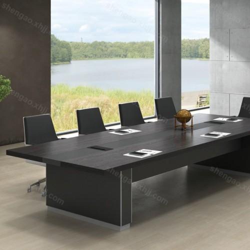 简约现代职员培训桌板式大型会议桌02