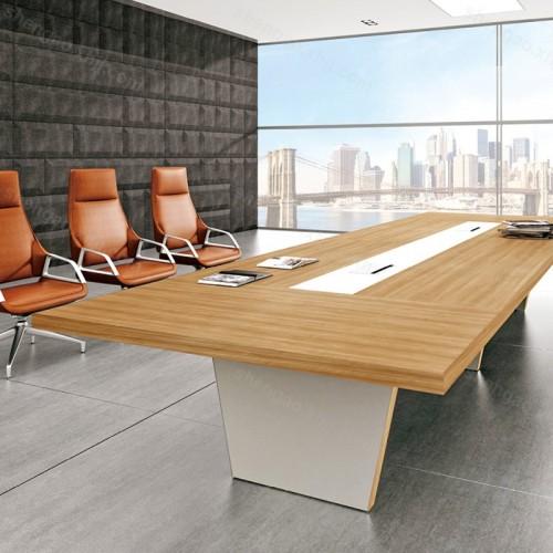 现代板式长方形大型会议桌会议长桌03