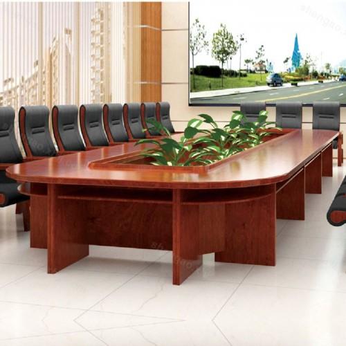 现代简约实木油漆大型会议桌培训桌02