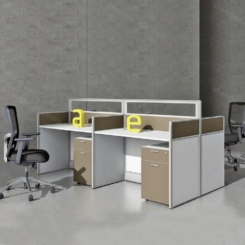 办公职员桌四人位屏风隔断桌办公桌02