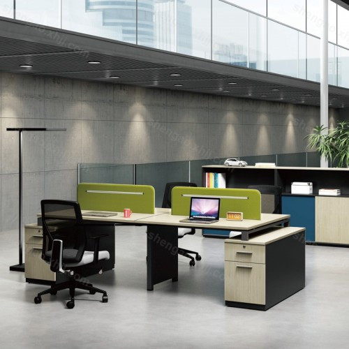 开放式办公区员工单人位办公桌电脑桌03